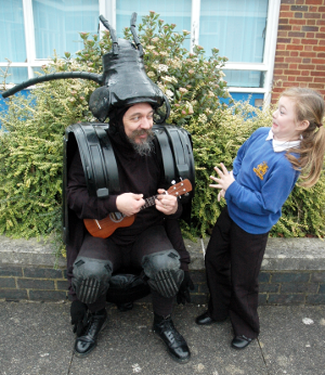 Mr. Beetle at Newburgh Primary School, warks. Thanks to the school for the iuse of their lovely photos!